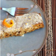 Orange Walnut Paleo Cake with Cardamom Cream