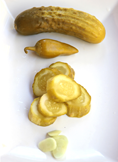 Israeli Pickles Detail