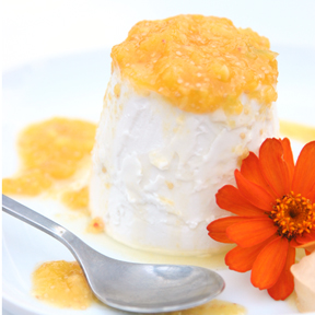 Ground Cherry Coconut Panna Cotta