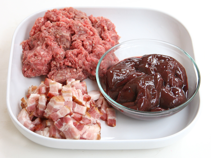 Paleo Bacon Liver meatballs Ingredients