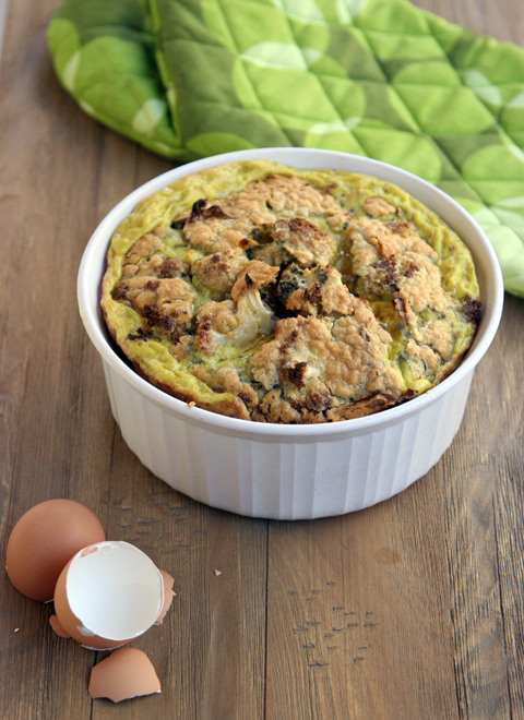 Cauliflower Ghee Souffle' Paleo and Low Carb