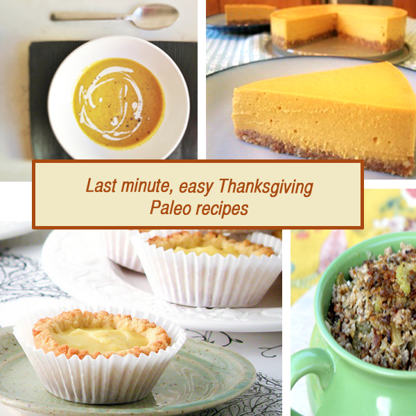 last minute, easy Thanksgiving Paleo recipes2