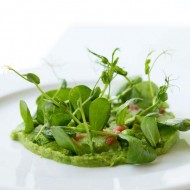 Peas, Rhubarb and Spinach Salad. A Special Treat From Manna Ristorante!