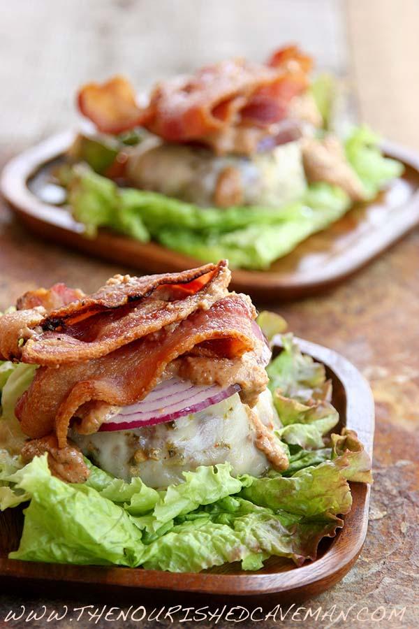 Almond Butter Beastie Bunless Bacon Burger 3