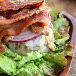 Almond Butter Beastie Bunless Bacon Burger 4
