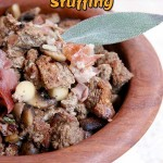 Gourmet Keto Thanksgiving Stuffing By The Nourished Caveman closeup