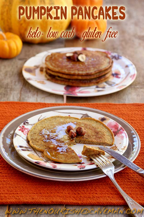 Keto Pumpkin Pancackes by The Nourished Caveman