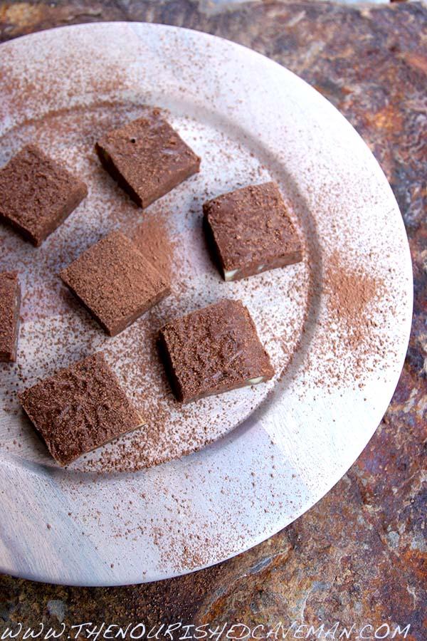 Fudgy Macadamia Chocolate Fat Bombs By The Nourished Caveman 2