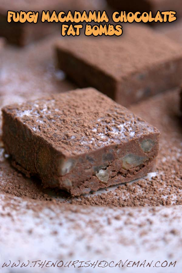 Fudgy Macadamia Chocolate Fat Bombs By The Nourished Caveman 4