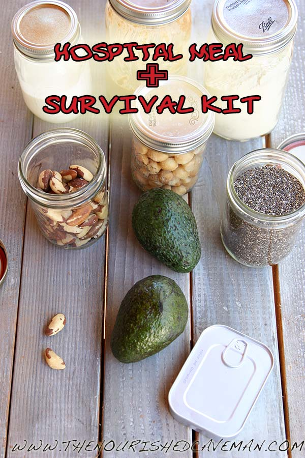 HOSPITAL MEAL SURVIVIAL KIT BY THE NOURISHED CAVEMAN