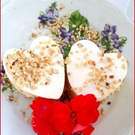 Panna Cotta And Cream Hearts