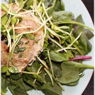 Caramelized Onion, Spinach, and Swiss Stuffed Turkey Burgers