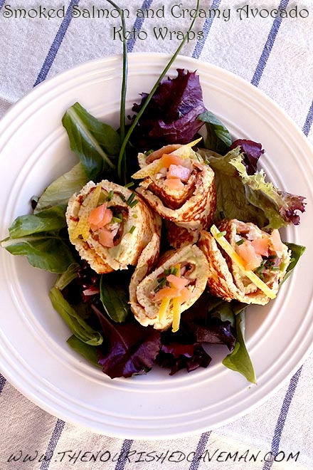 Smoked Salmon and Creamy Avocado Keto Wraps By The Nourished Caveman