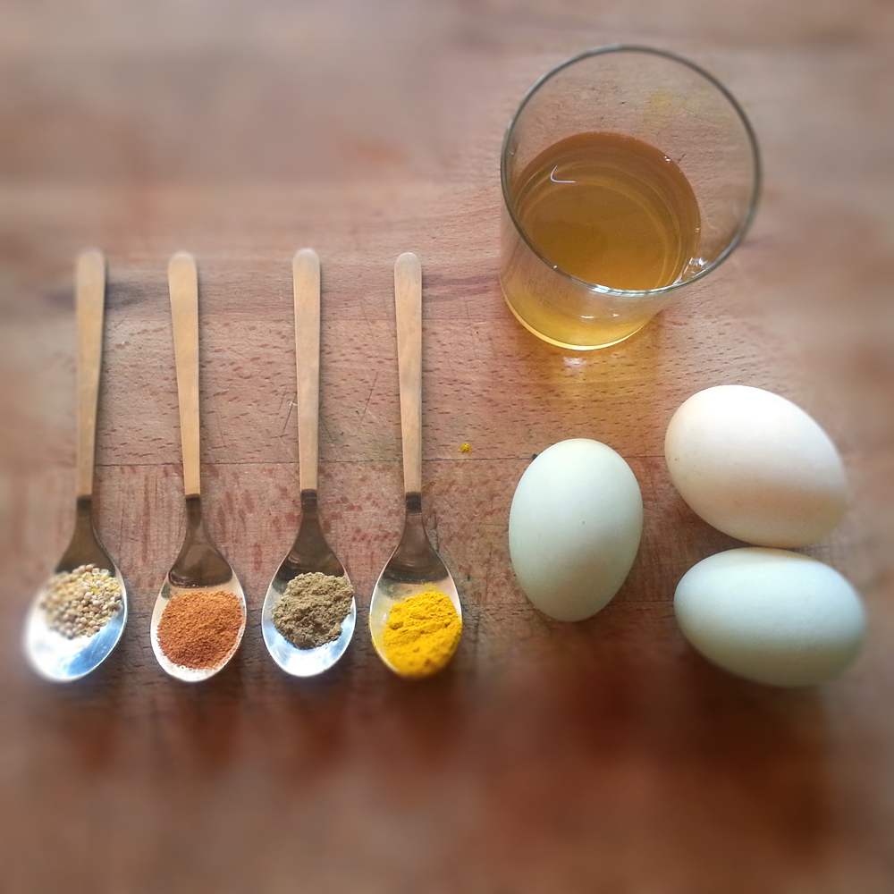 Spiced and Pickled Duck Eggs
