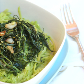 Zoodles with Lemon and Agretti