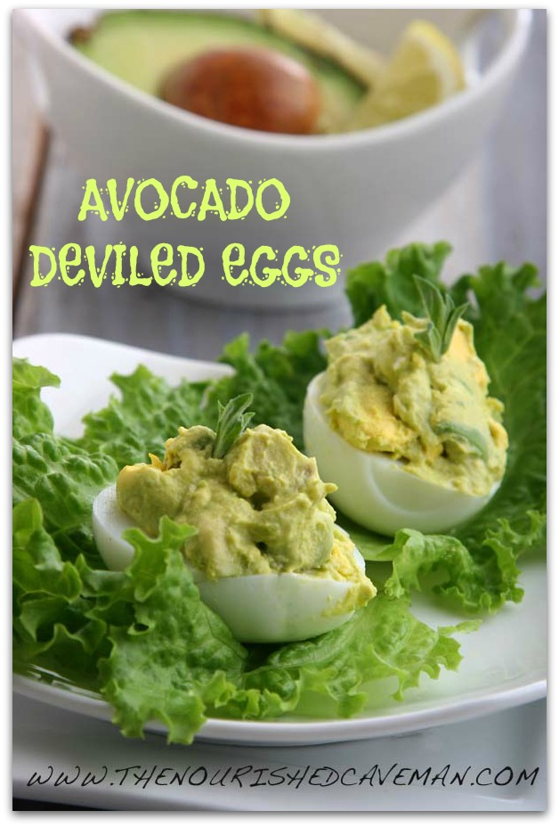 Avocado Deviled Eggs By The Nourished Caveman 2C