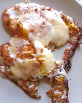 fried eggs and cheese