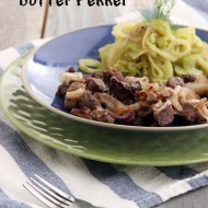 Easy, Low Carb Broiled Lamb with Butter Fennel