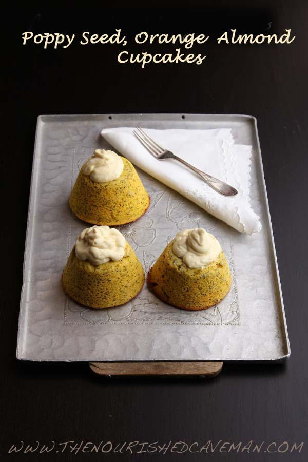 Poppy Seed Orange Almond Cupcakes by The Nourished Caveman .jpg