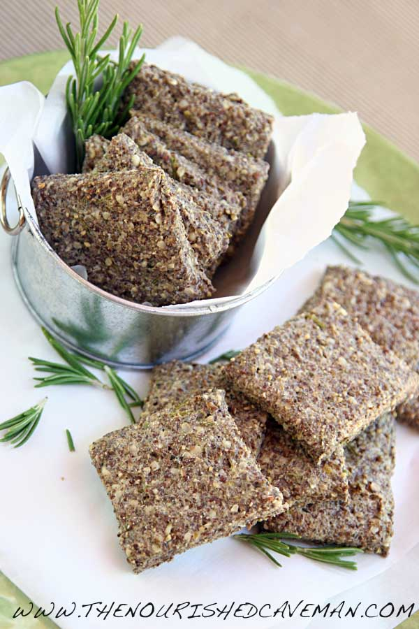 Easy Homemade Crackers With Rosemary and Oilve Oil By The Nourished Caveman 03