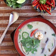 Thai Coconut Soup with Shrimp or Chicken