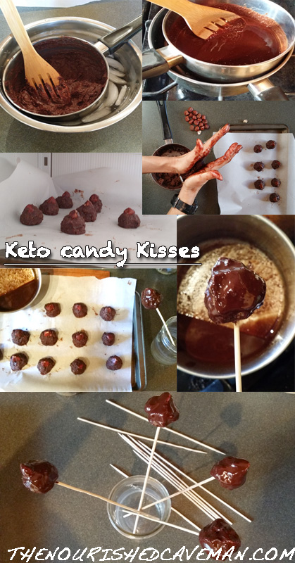 Keto Chocolate Candy Kisses Step by Step by The Nourished Caveman