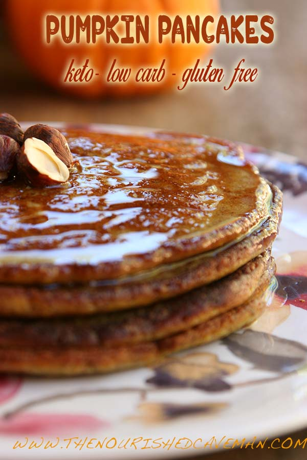 Keto, Low-carb and Gluten Free Pumpkin Pancakes