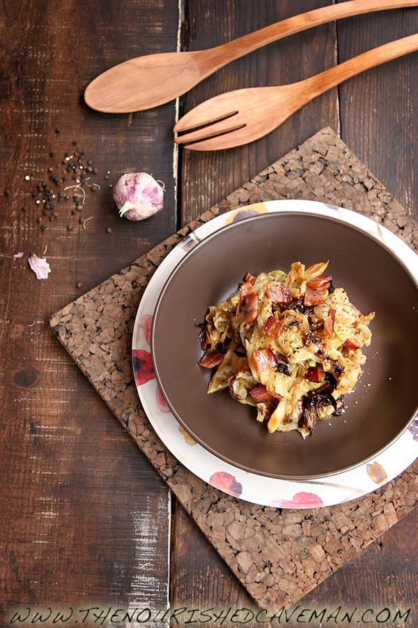 Roasted Cabbage Carbonara By The Nourished Caveman