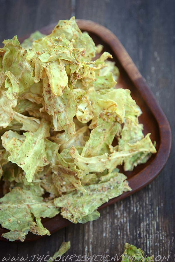 Almond Butter Cabbage Chips By The Nourished Caveman