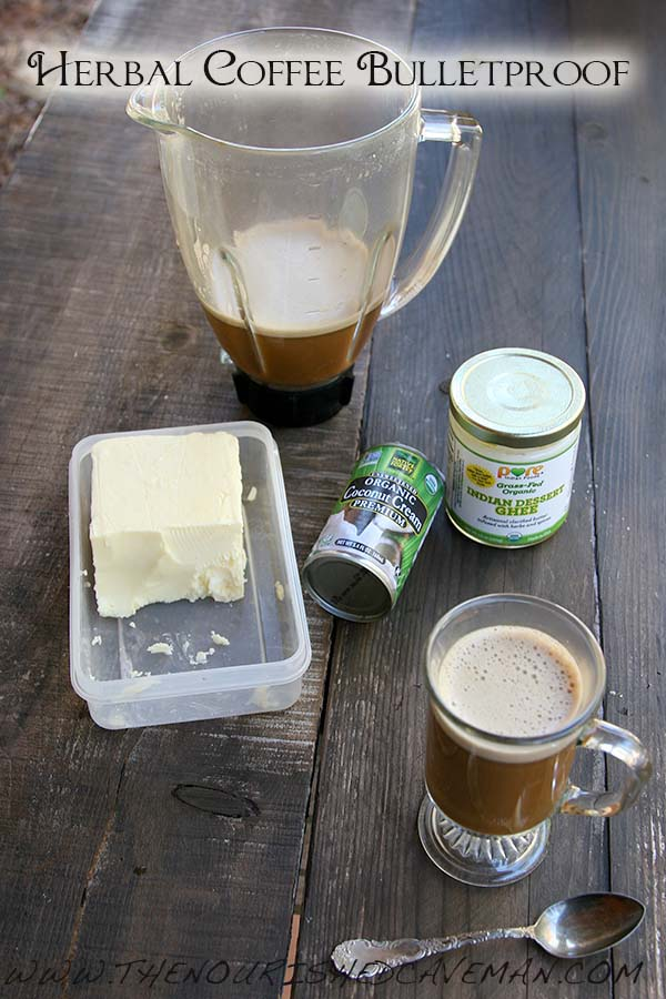 Herbal Coffee Bulletproof By The Nourished Caveman Wait until you try this herbal coffee bulletproof!! You will be hooked! No caffeine here!