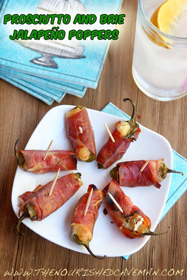 Prosciutto and Brie Jalapeno Poppers By The Nourished Caveman top