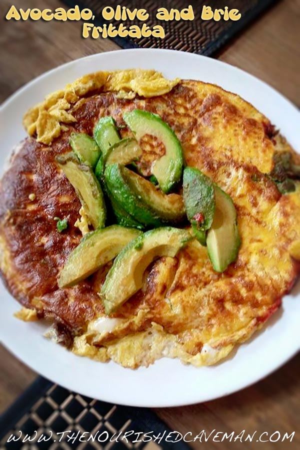 Avocado Olive and Brie Frittata By The Nourished Caveman