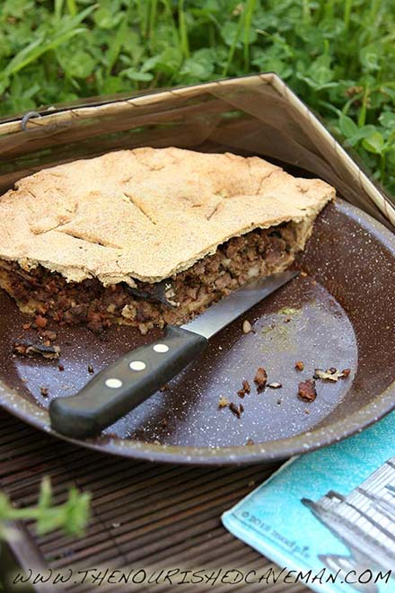 Time for picnics! Are you afraid to go out because of allergies? Read here why my Keto Meat Pie is great for you and what you can do to get rid of them! Keto Meat Pie By The Nourished Caveman pie dish