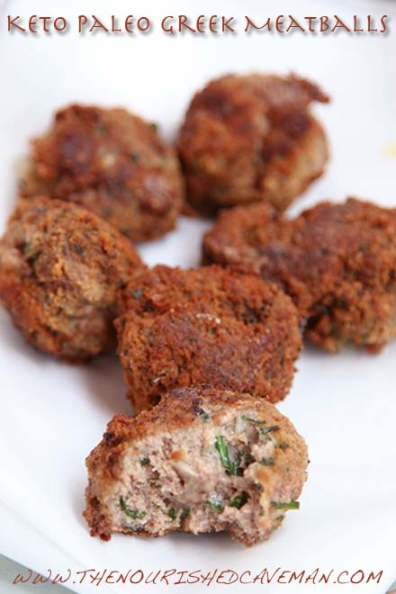 Keto Paleo Greek Meatballs By The Nourished Caveman 4