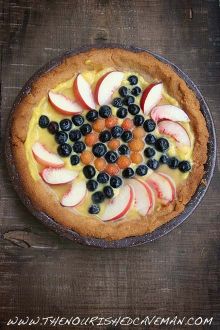 Keto Fruit Tart for my bday - The Nourished Caveman