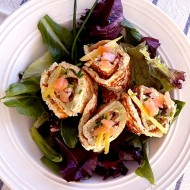 Smoked Salmon and Creamy Avocado Keto Wraps