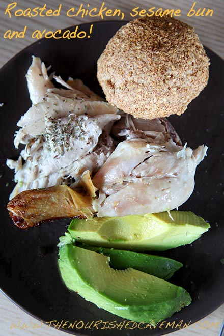 Keto Roast Chicken by The Nourished Caveman - serving suggestion